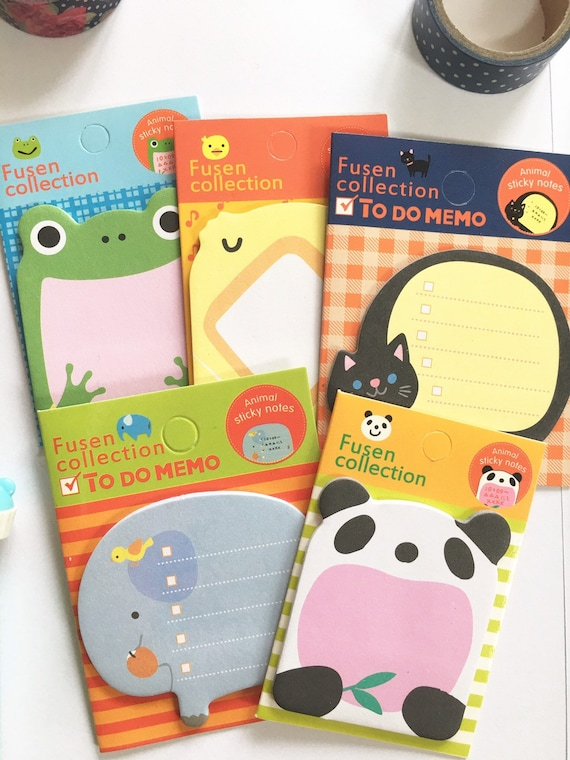 Cute Kawaii Animals Sticky Notes Index Notes For Planners Etsy