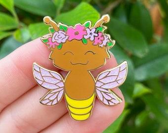Firefly Fairy enamel pin // lightning bug fairy, fairy garden, hard enamel pin, fairy core, fairy wings