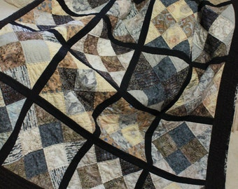 Large lap or short twin quilt
