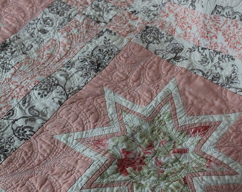 Past tense, Present day; a girl's crib quilt
