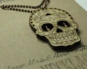Sugar Skull Necklace - La...