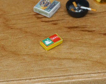 Half Inch Scale Ashtray Miniature Dollhouse Supplies Smoking Bar Mini 1:6 Scale