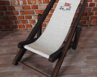 Dolls House Miniature 'Titanic' White Star Line Deck Chair