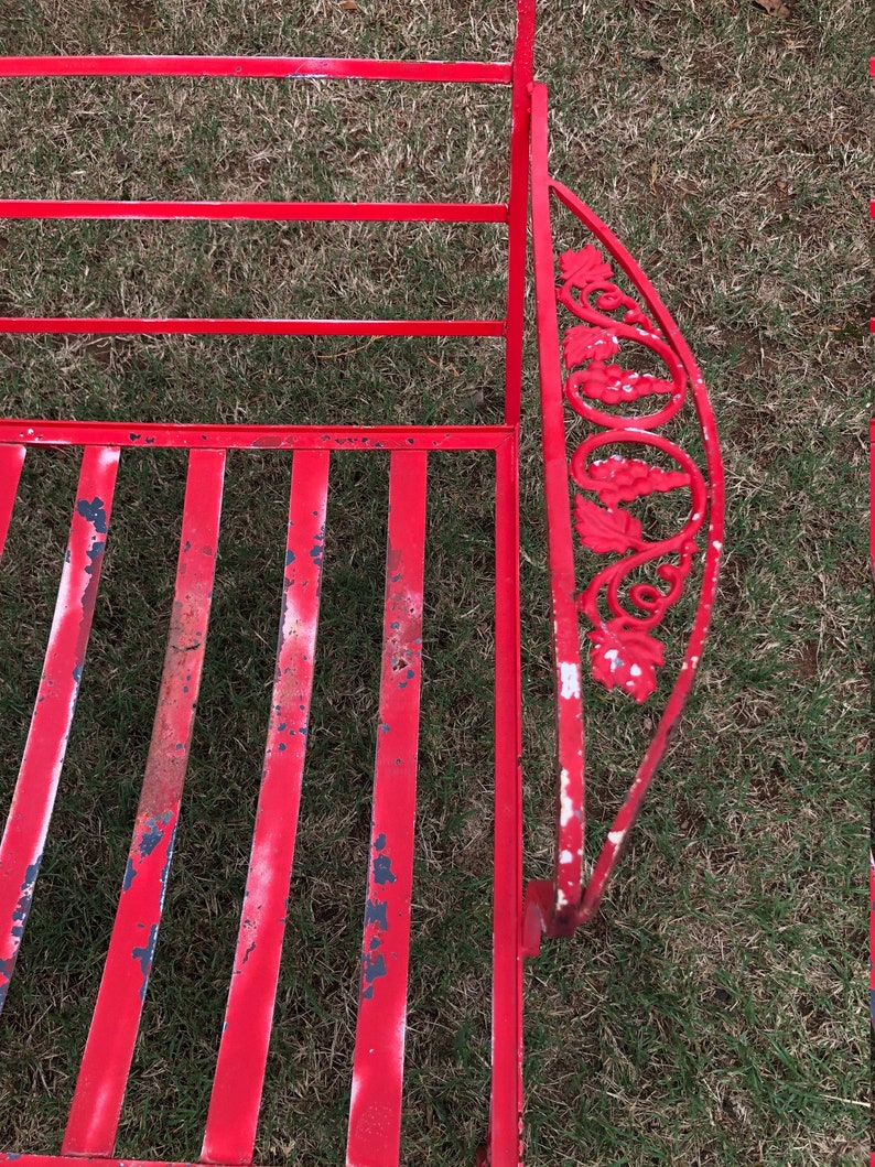 Vintage Pair of 2 Wrought Iron Lounge Chairs Patio Chairs Mid Century