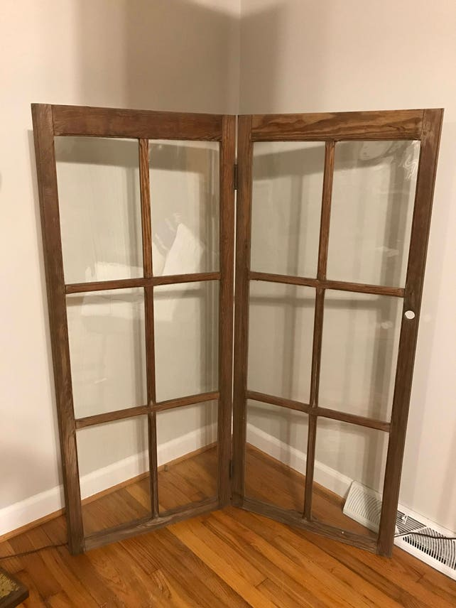 Superbe Vintage Folding Cabinet Doors Two Panel Wood Screen Room | Etsy
