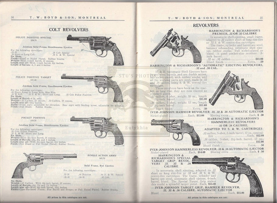Vintage T  W  Boyd & Son ~ Sporting goods Guns, Ammunition Bicycles,  Canoes, Snowshoes 1926 Catalog