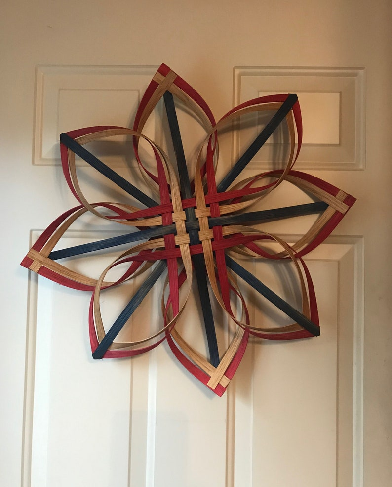 Hanging Decor Snowflake in Fourth of July Colors image 0