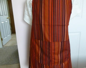 Red striped apron