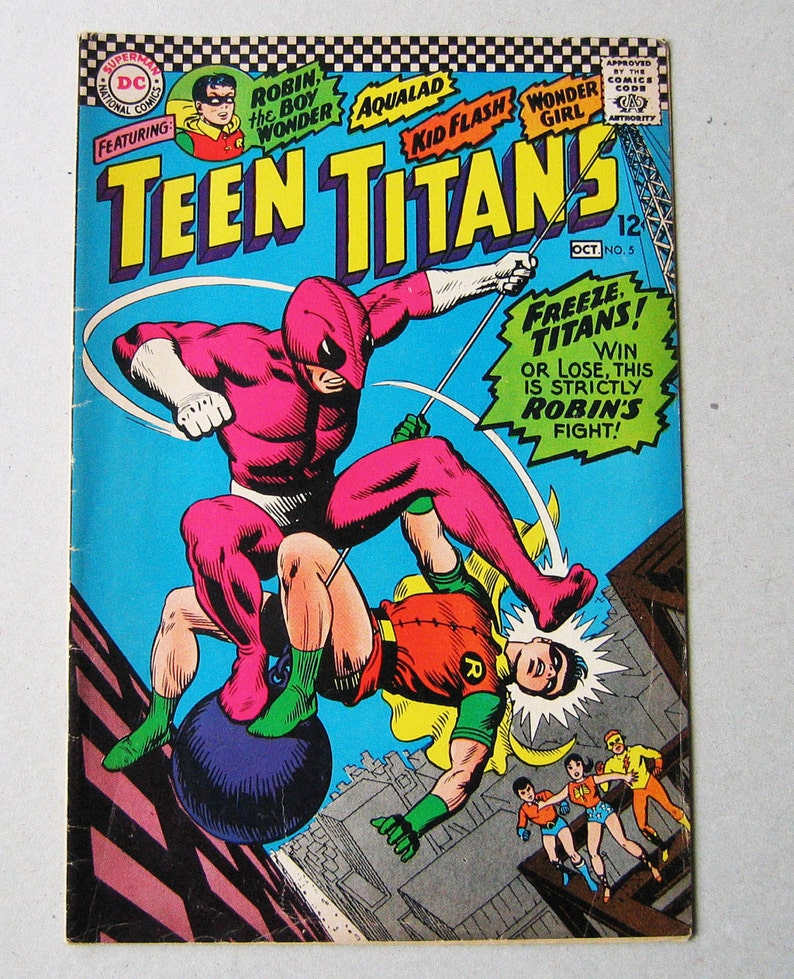 Old Comic Book Teen Titans 5 1960S Dc Comics Robin The  Etsy-2255