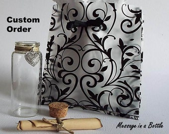 Message in a bottle gift, Gift of love, Personalized message in a bottle, Message in a bottle wedding, Wedding gift for bride from groom