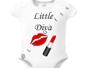 Baby Girl Bodysuit, Baby Diva, Baby Girl Shower Gift Bodysuit for girl, Baby Diva baby shower, Baby girl outfit, Diva Girl, Diva baby, Gift