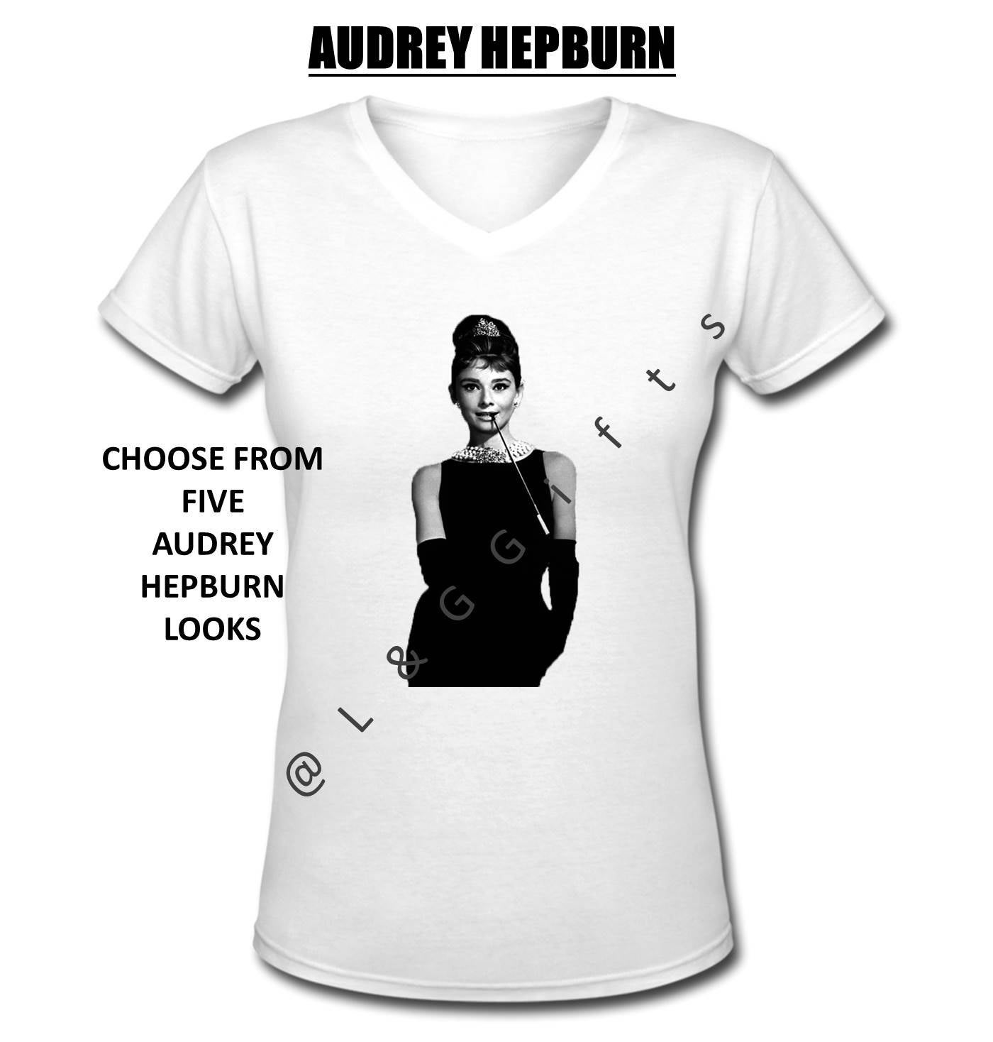 4719ff41 Audrey Hepburn T shirt Audrey Hepburn Pictures Old Hollywood | Etsy