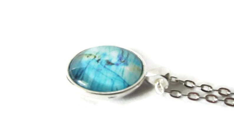 Blue jewelry necklace Light blue pendant necklace One of a kind blue necklace Unique blue necklace Blue pendant necklace pendant gift