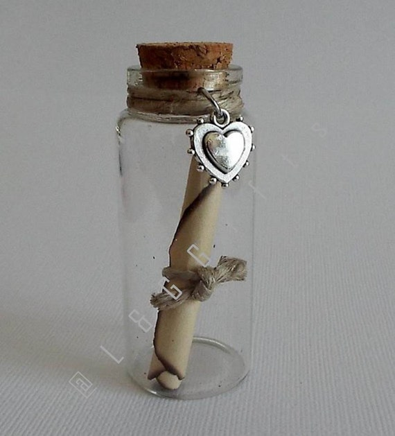 Message In A Bottle Romantic Gift Valentines Day Gift Love Etsy
