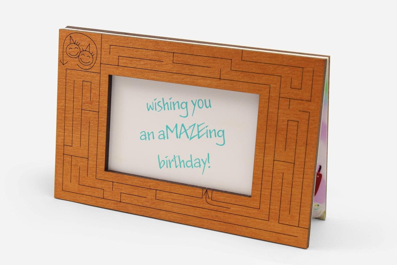 Birthday Wishes Wood Card Funny Happy Birthday Wooden Gift Etsy