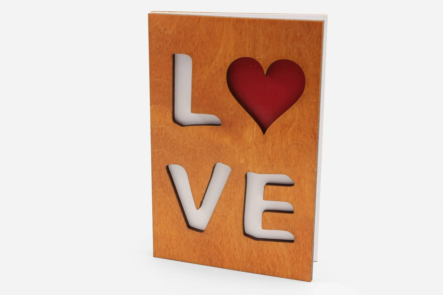 Romantic Love You Valentines Day Wood Greeting Cards Etsy