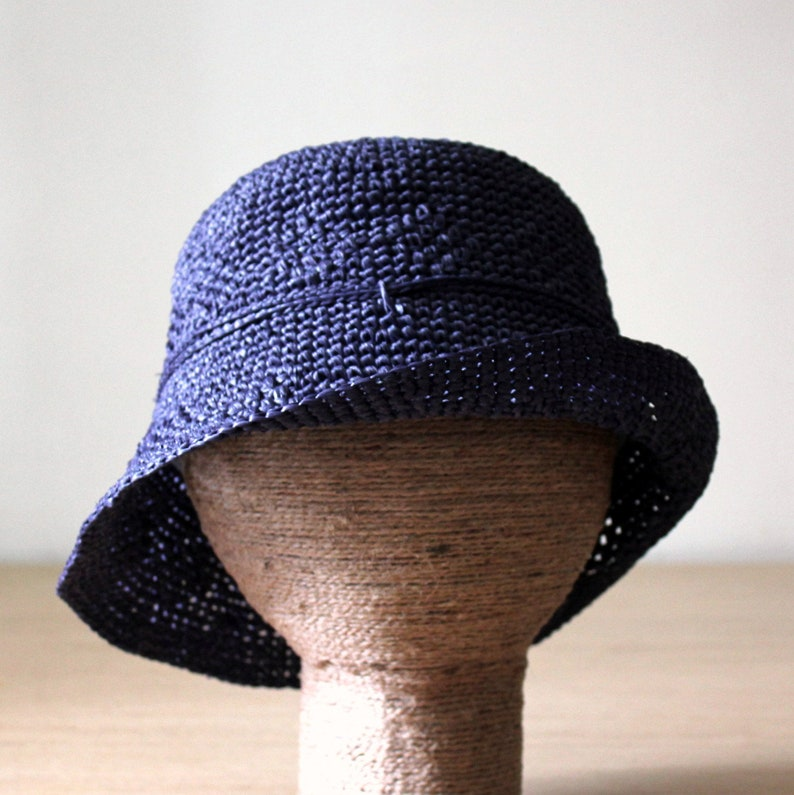 a773964fd12 Womens raffia sun hat Blue bucket hat Packable Straw beach hat