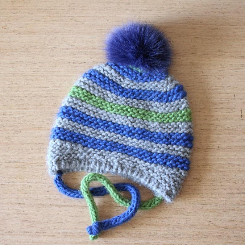 4807fc96449 Les enfants péruvien Bonnet avec tresses bonnet en laine