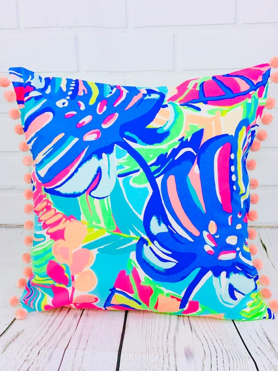 Lilly pulitzer pillow | Etsy