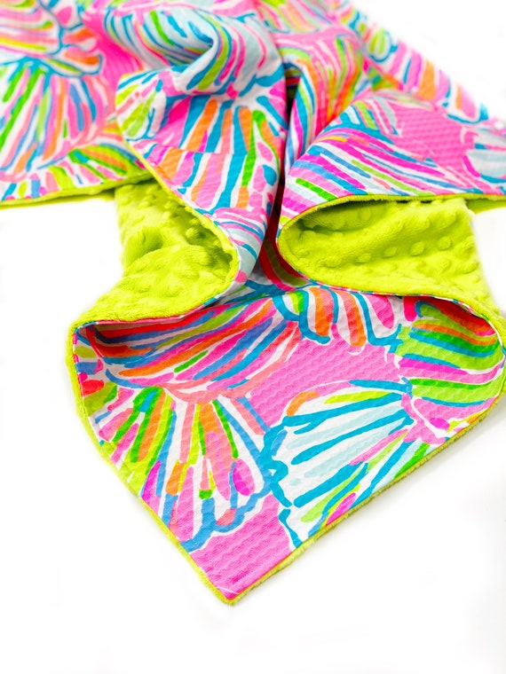 df504b90763ce7 New Lilly Pulitzer Pink Pout Shellabrate Baby   Etsy