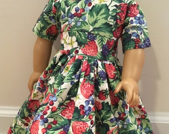 Strawberry American Girl Doll Dress