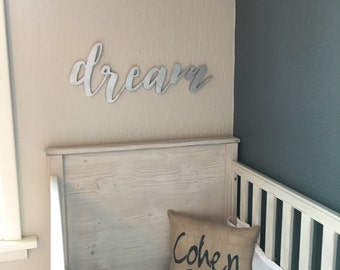 Wood 'dream' Sign, Party, Home Decor.