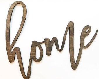 Wood 'home' Sign, Home Decor.