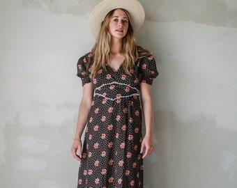 bohemian floral prairie dress
