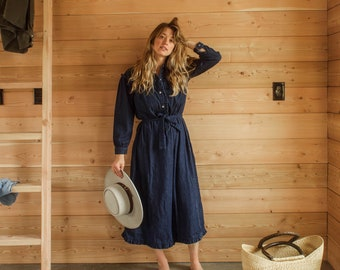 1d610600afa vintage western denim shirt dress