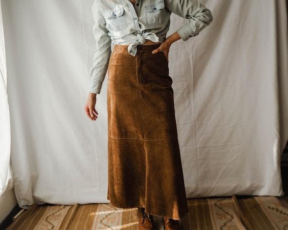 vintage Canadian suede skirt