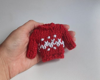 Miniature Sweater Knitted Stuffed Ornament - Apparel Ornament - Unique Stocking Stuffer - Ugly Sweater - Mobile Supply - Christmas Ornament