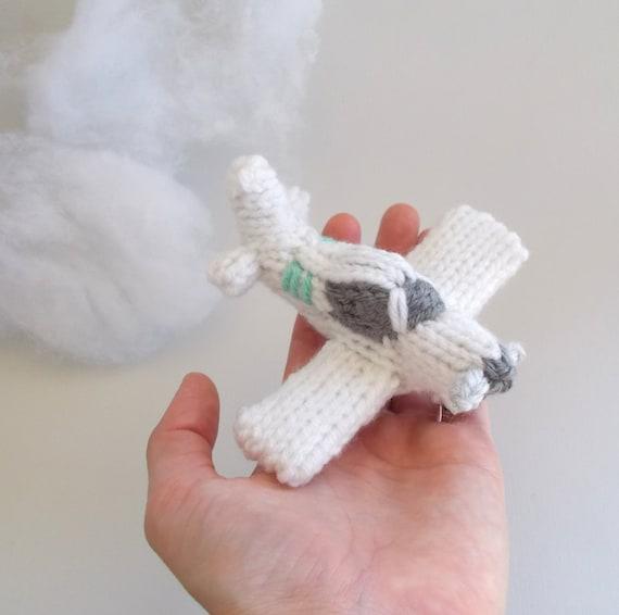 Miniatura solo motor avión punto peluche avión ornamento   Etsy