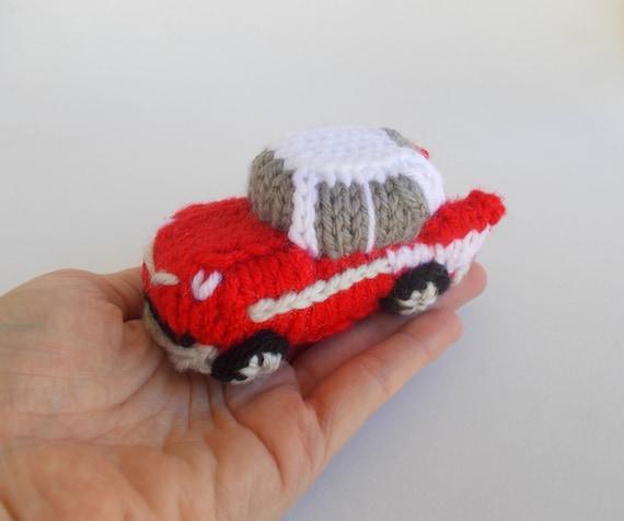Car Decor Stocking Stuffer 57 Bel Air Gift Idea Vehicle Ornament Retro Car Model Mini Classic Car Knitted Stuffed Ornament