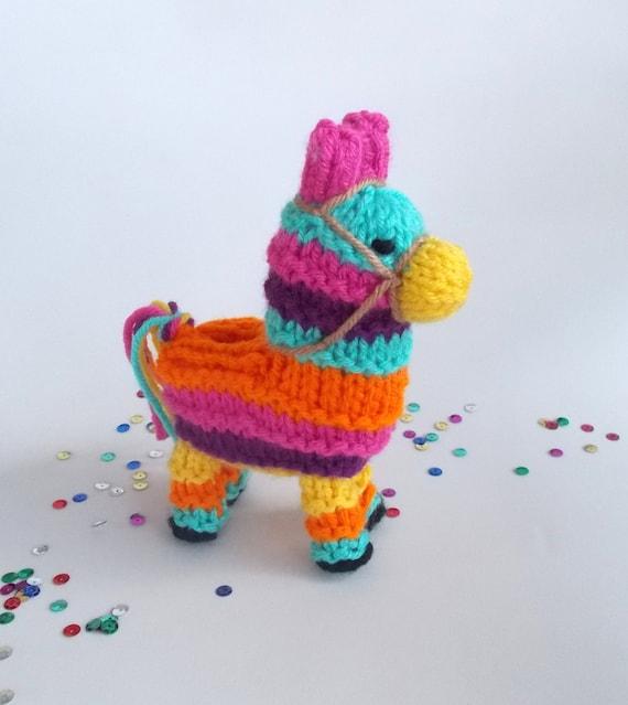 Pinata de burro pequeño punto juguete de escritorio   Etsy
