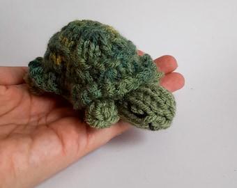 Miniature Turtle Knitted Soft Ornament - Cute Tortoise Ornament - Unique Stocking Stuffer - Mini Turtle - Mobile Supply - Christmas Ornament