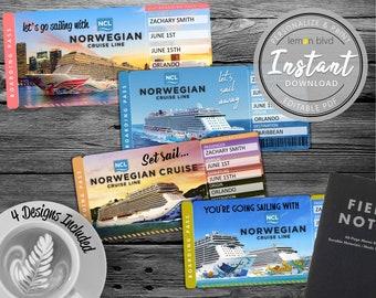 Cruise Ticket Etsy