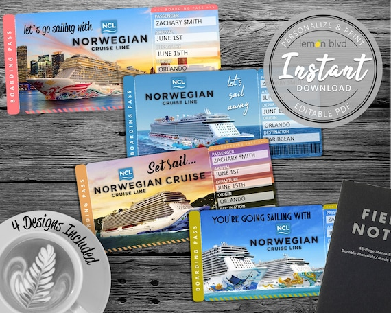 NCL Cruise Tickets | Norwegian Cruise Ticket Download | Surprise Cruise  Boarding Pass | Printable Vacation Gift Ticket | Surprise NCL Cruise
