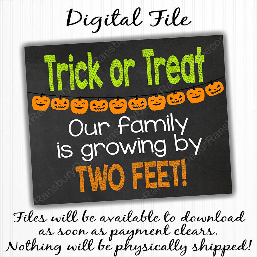 5563d15bd8807 Halloween Pregnancy Announcement Sign Digital Chalkboard | Etsy