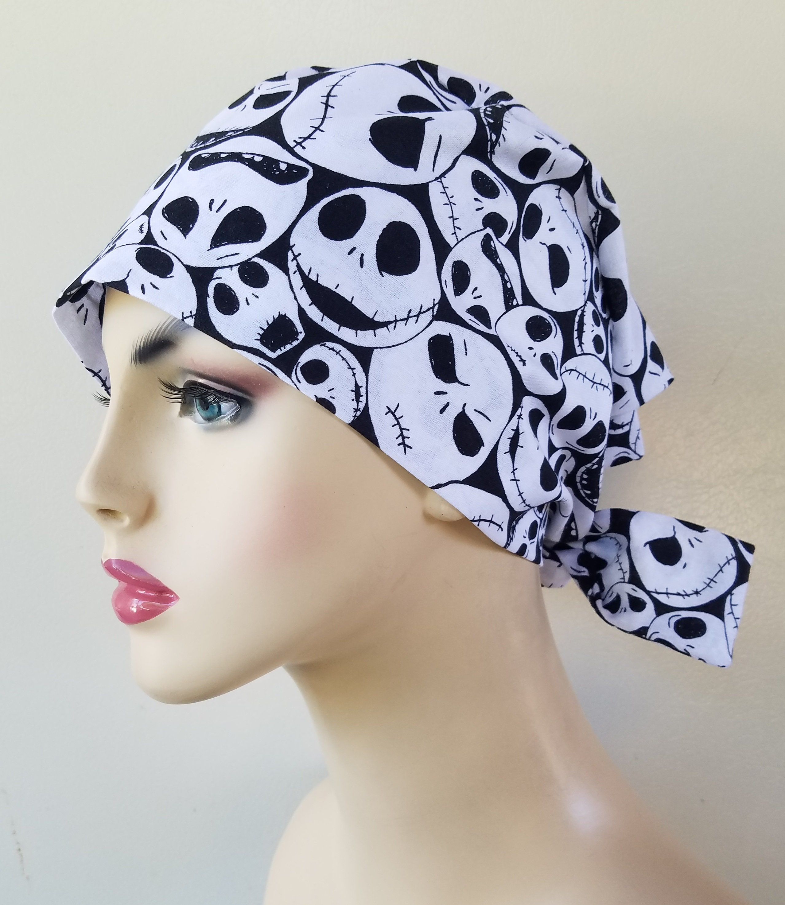 Nightmare before Christmas pixie tie back scrub hat, scrub hat for ...