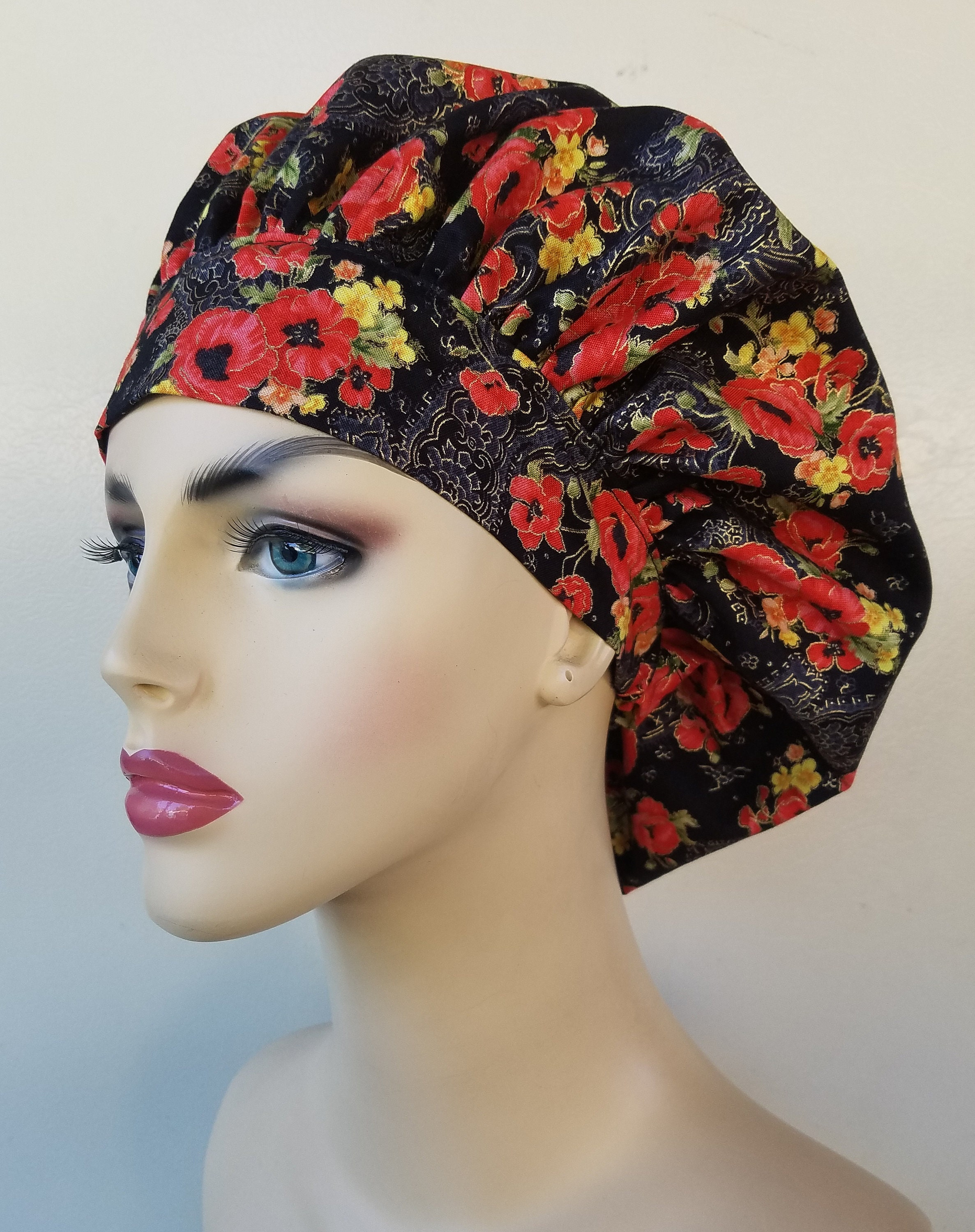 ... red floral scrub hat. gallery photo ... 2e97c8b1426