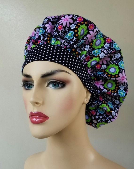 be81b7ac369 Scrub cap Bouffant surgical scrub hat scrub hats for women