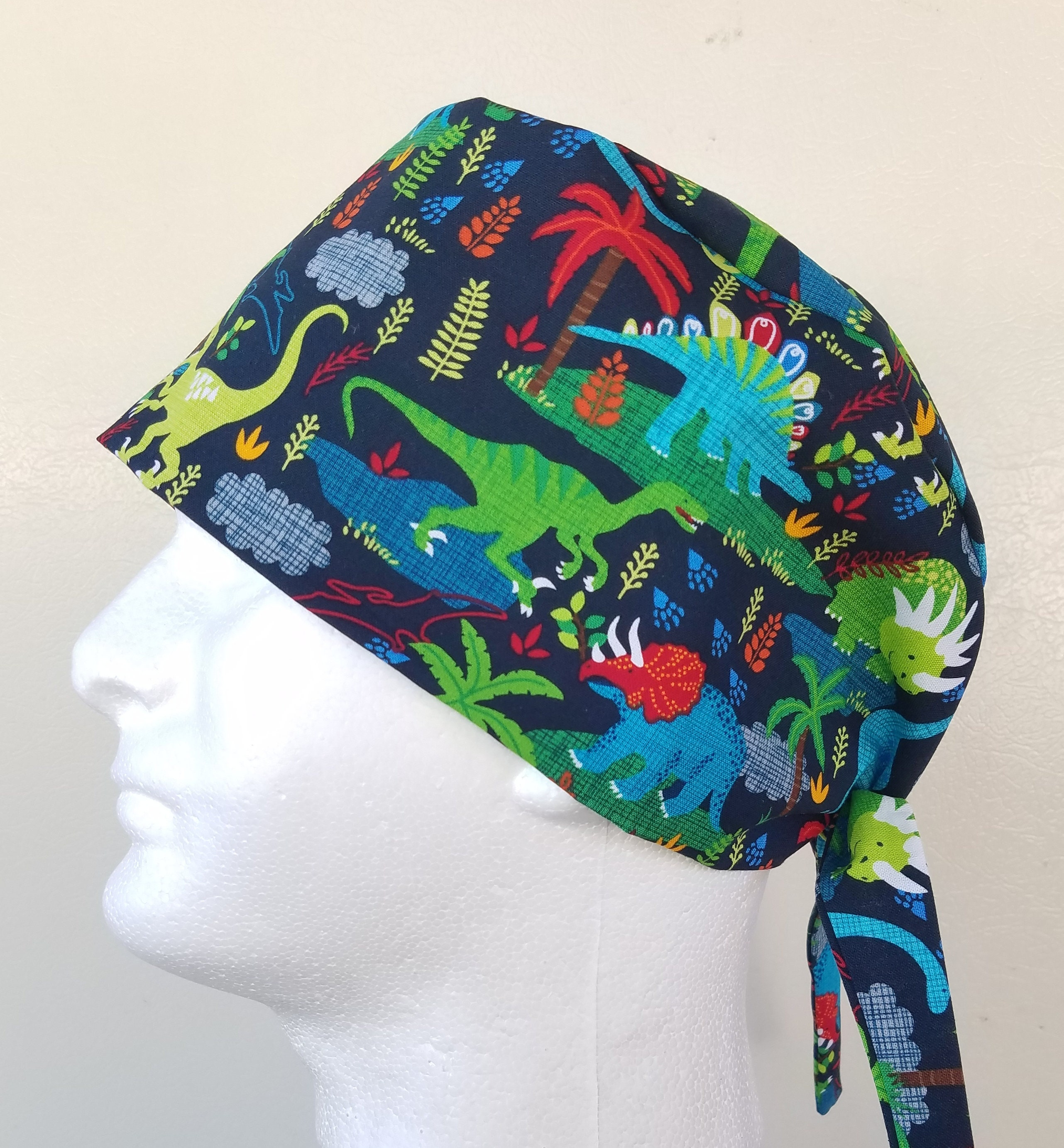 c684445f36a5a ... men s tie back surgical scrub hat. gallery photo ...