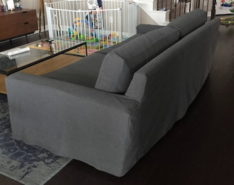 Custom slip cover tailored to fit your sofa. Custom Made Slipcovers for love seats, sofas, chase lounges and sectional sofas.