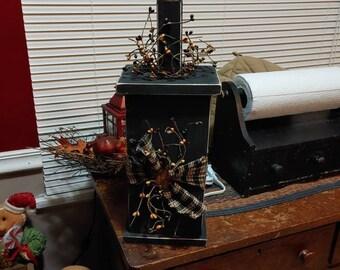 Primitive Wooden lamps