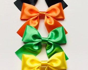 55b2877297a62 Brown satin hair bow