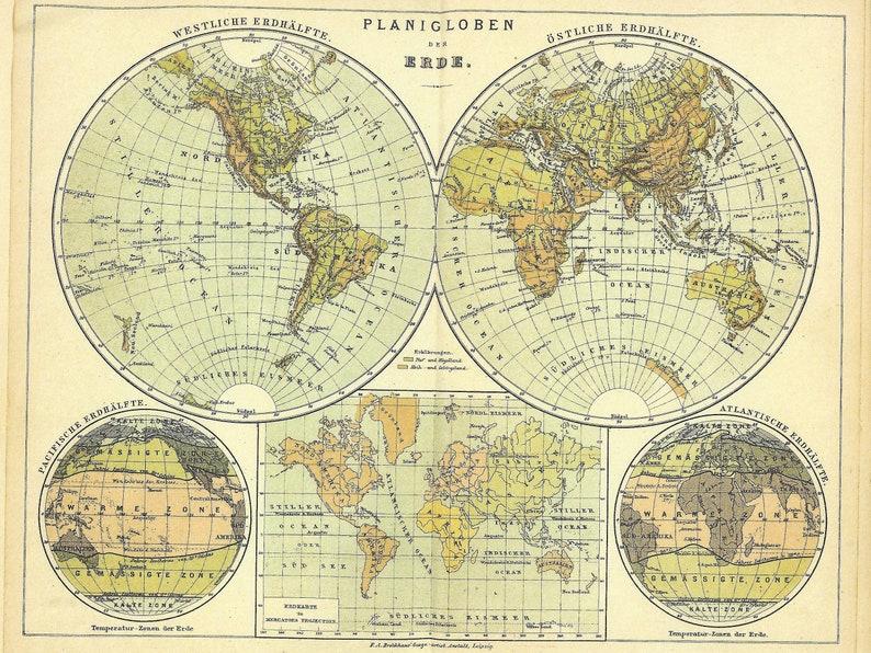 Australia And America Map.1886 Globe Map Australia South America Polynesian German Map Background Downloads