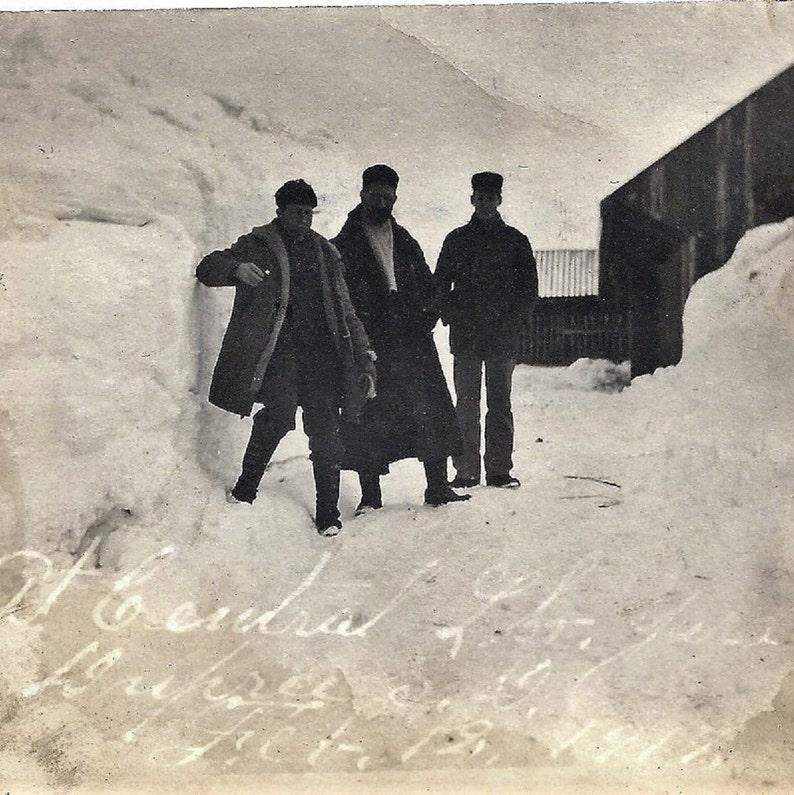 45145272d Dupree south dakota men in snow 1917 photograph download | Etsy