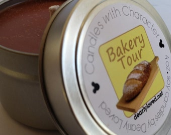 BAKERY TOUR - Disney Scented   Candles with Character - 4 oz.   California Adventure   Pacific Wharf   Soy Wax Candle   Hand Poured