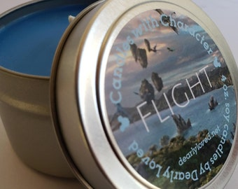 FLIGHT - Disney Scented   Candles with Character - 4 oz.   Flight of Passage   Pandora   Animal Kingdom   Avatar   Soy Wax   Hand Poured