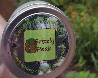 GRIZZLY PEAK - Disney Scented   Candles with Character - 4 oz.   California Adventure   Soy Wax Candle   Hand Poured   Wedding Favors   Gift